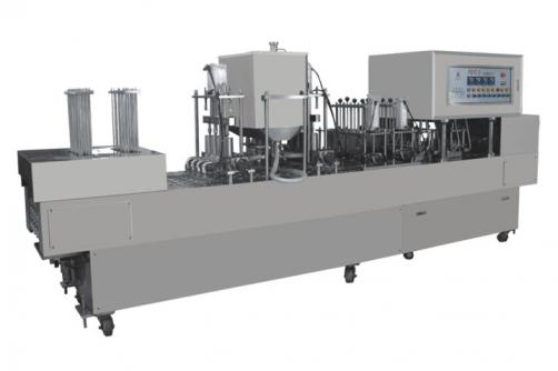 Linear Type Yougourt Cup Filling And Sealing Machine