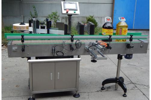 Multi function oil bottle labeling machine