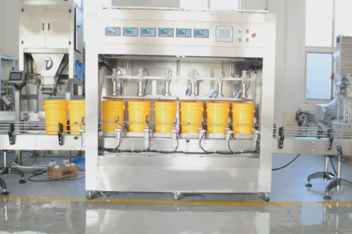 Automatic liquid, oil weighing filling machine