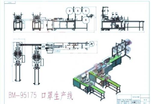 Automated disposal flat face mask making machine