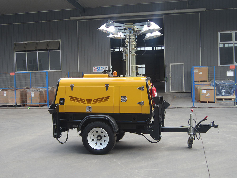 Hydraulic LED/Metal Halid light tower (VP Series), for mining sites