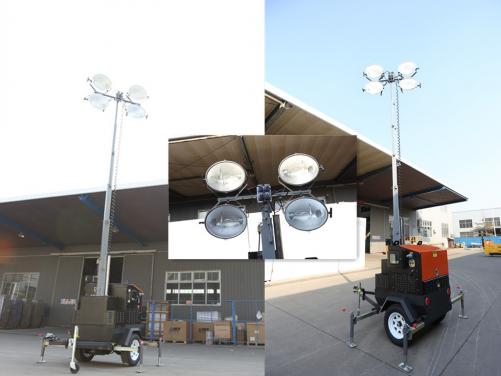 Electric 9m high metal halide diesel lighting tower i9T 4000W