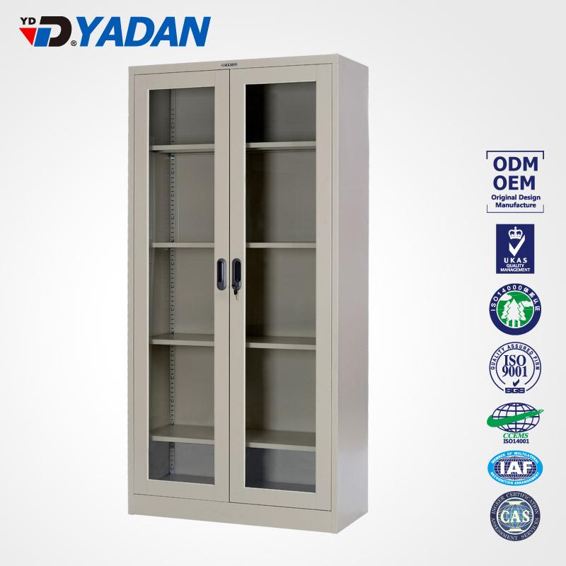 Glass swing doors cupboard 900*1400mm