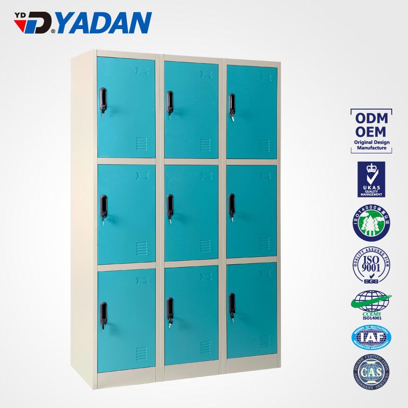 9 doors locker - bank of 3 wide 900*1850mm