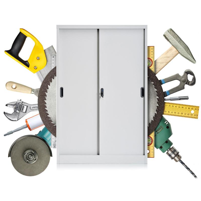 Metal sliding door cabinet 900*1400mm
