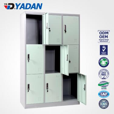9 doors locker - bank of 3 wide 1140*1850mm