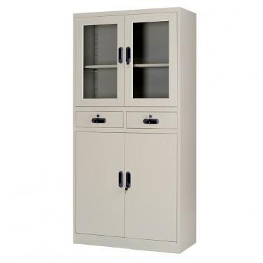 Multi-tier swing door cupboard with two drawers 900*1850mm