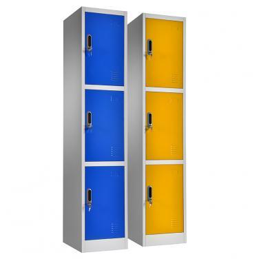 triple doors storage locker