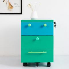 3 drawers smiley movable cabinet