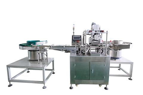 Cap & Rubber Stopper Assembling Machine  (Upward Type)