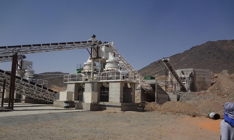 Planta de trituración de granito en Arabia Saudí