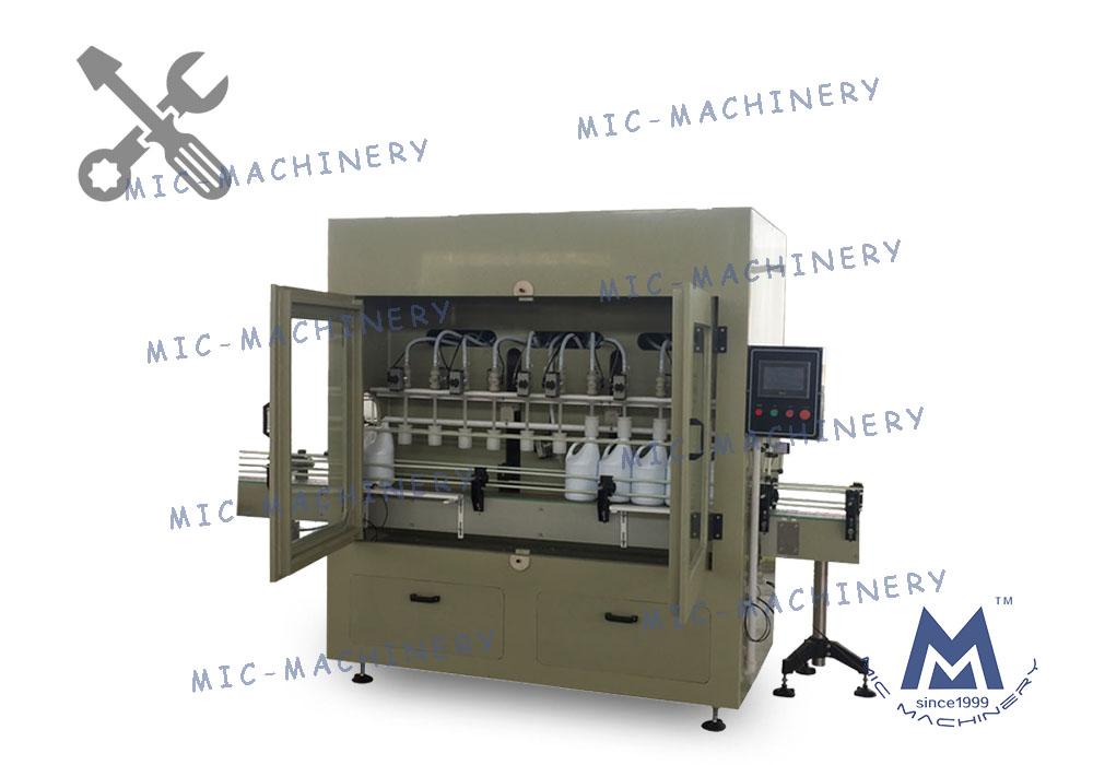 MIC-ZF12 anti-corrosive liquid filling machine adjustment