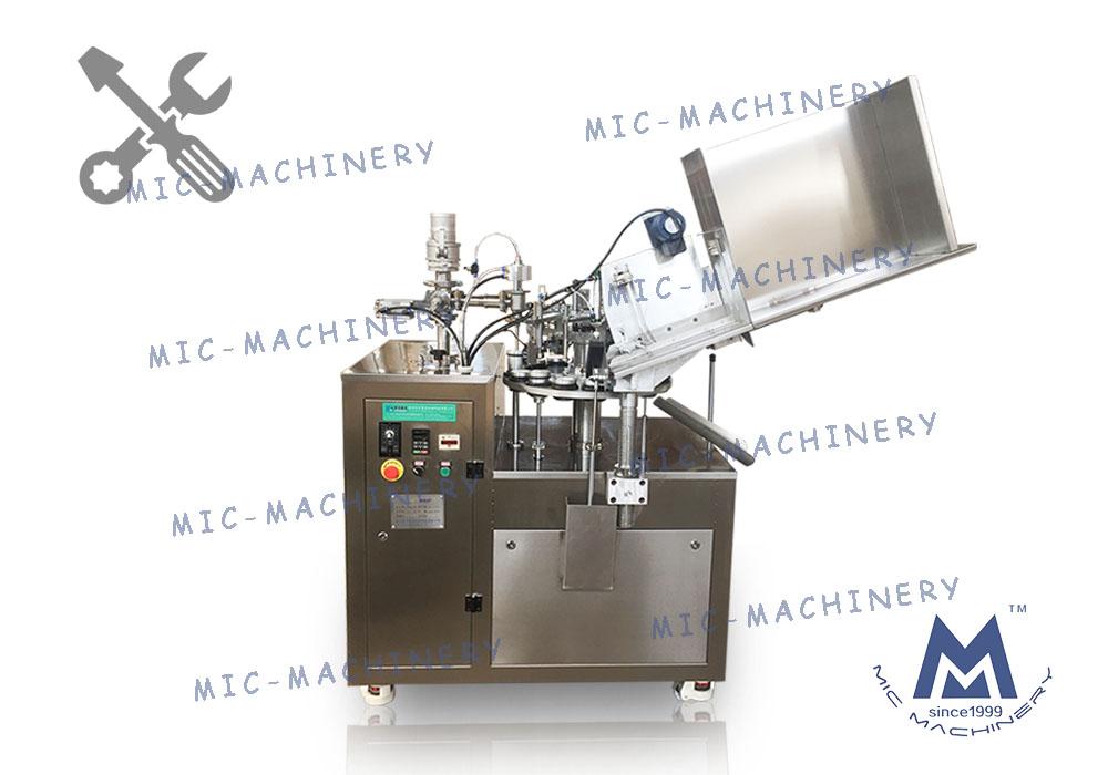 MIC-L45 aluminum tube filling sealing machine debugging and introduction