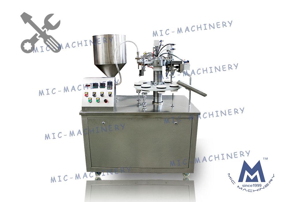 MIC-R30 semi automatic soft tube filling machine debugging video