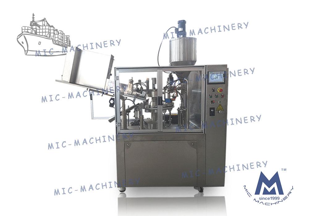 MIC-R60-I filling sealing machine with heating gun export to Kazakhstan