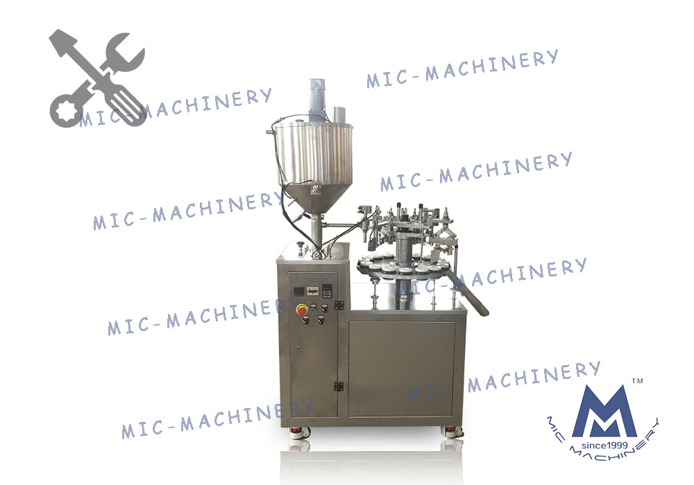 Test regulation of MIC-L30-I aluminum tube filling sealing machine