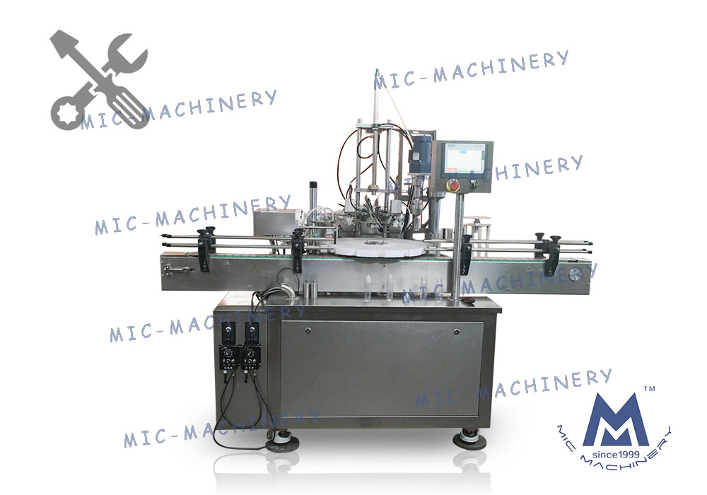 Adjust to the best MIC-E40 automatic e-liquid filling capping machine for customers