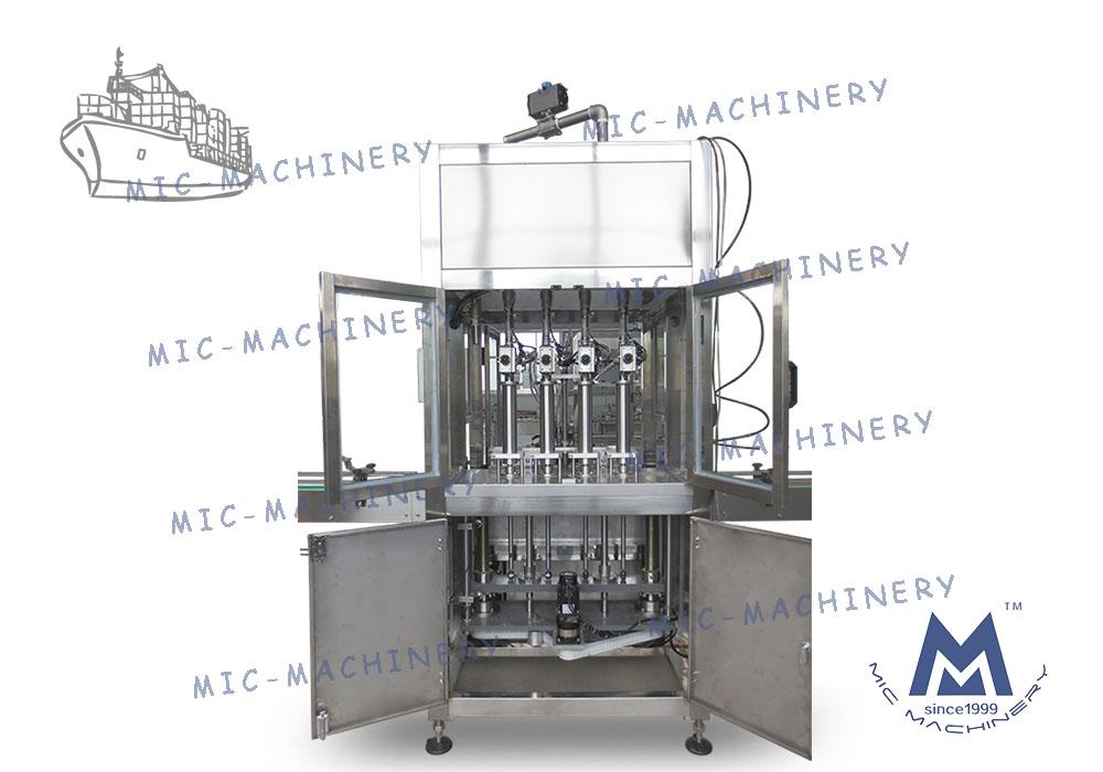 MIC-ZF4 Automatic Small Plastic Bottle Liquid Filling Machine Shipped To Romania