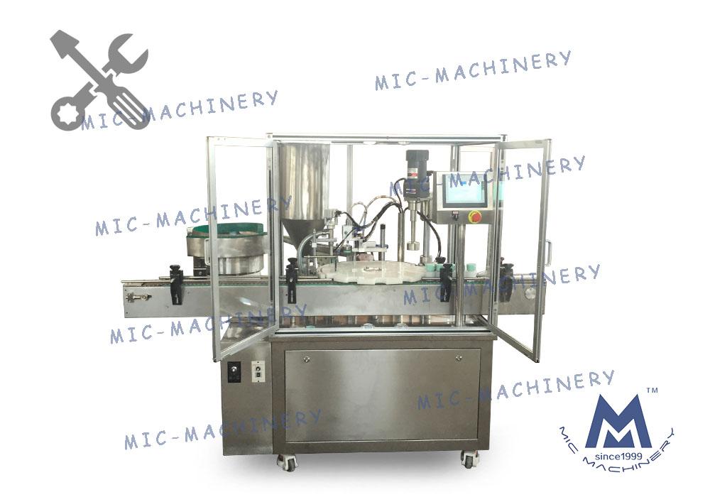 MIC-LL45 Cream Filling Capping Machine Debugging Video