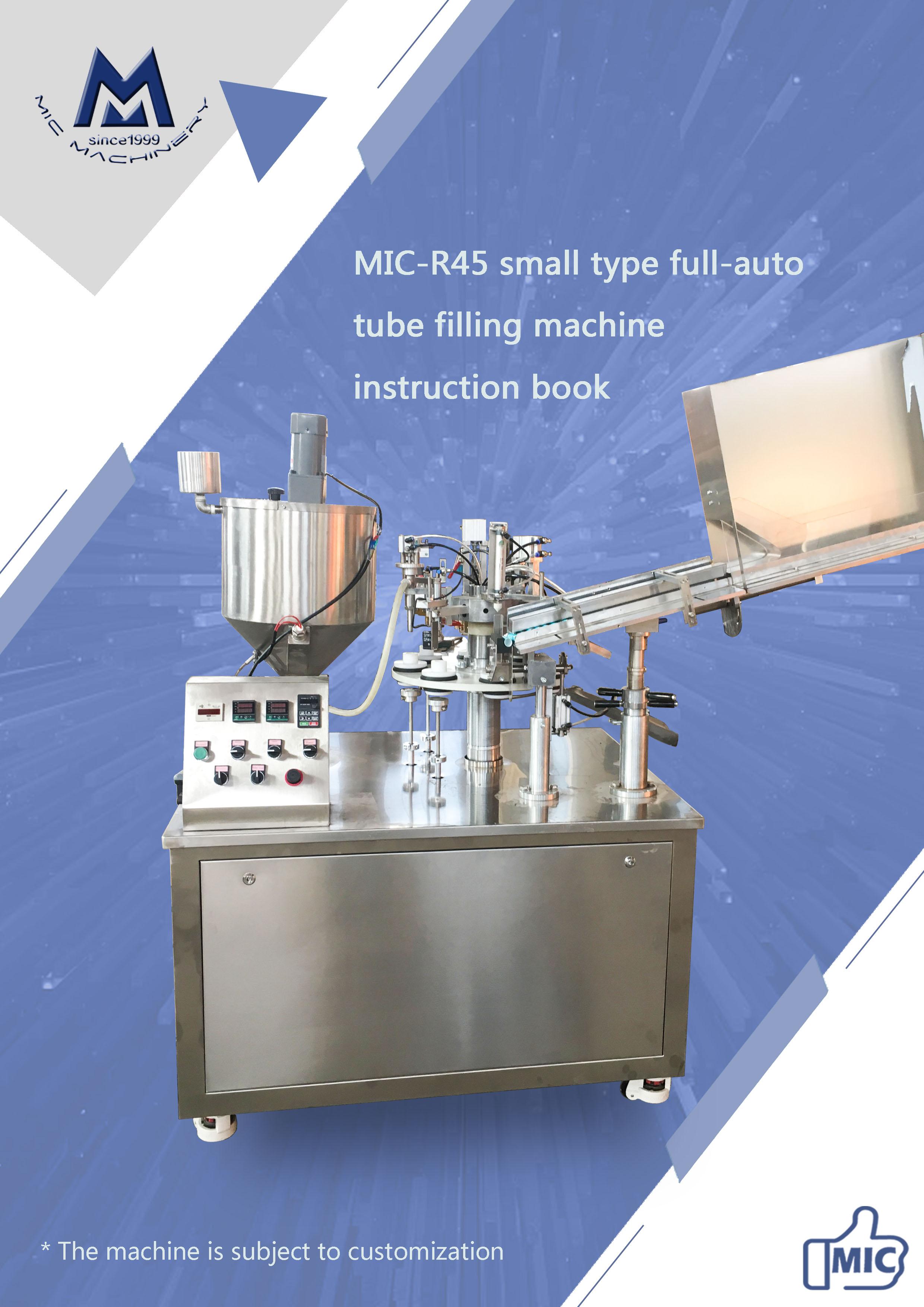Manual of R45 plastic & laminated tube filling sealing machine