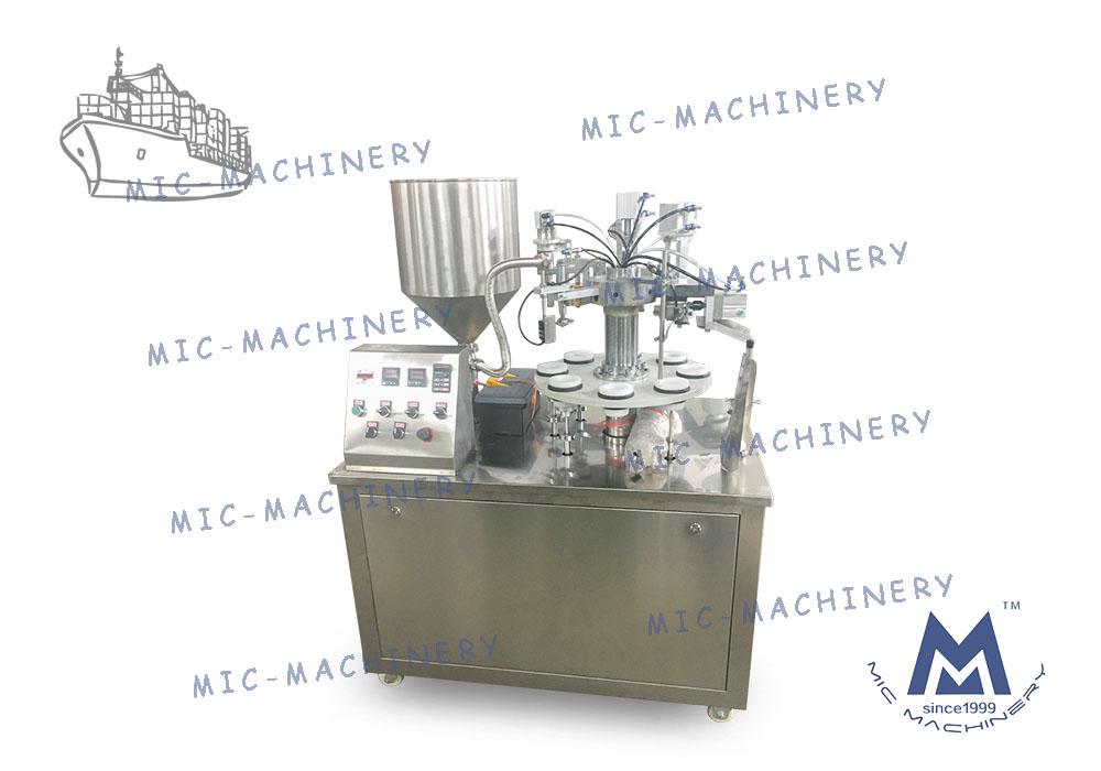 MIC-R30 Semi-Automatic Soft Tube Filling Sealing Machine For Poland