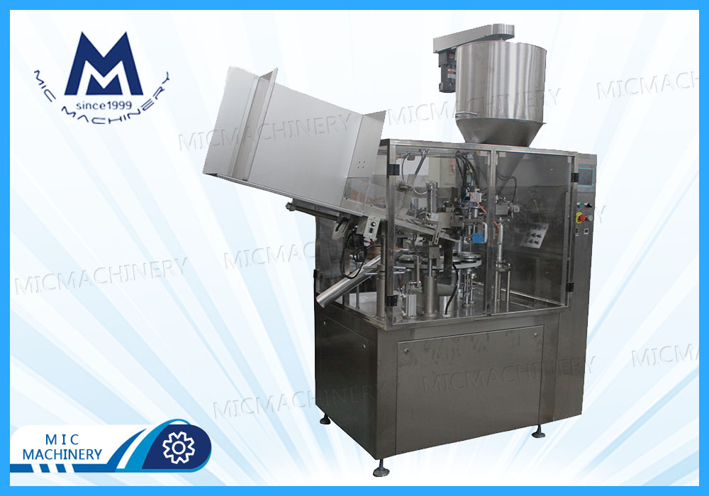 Body lotion filling sealing machine ( MIC-R60 Auto Soft Tube Filling & Sealing Machine)