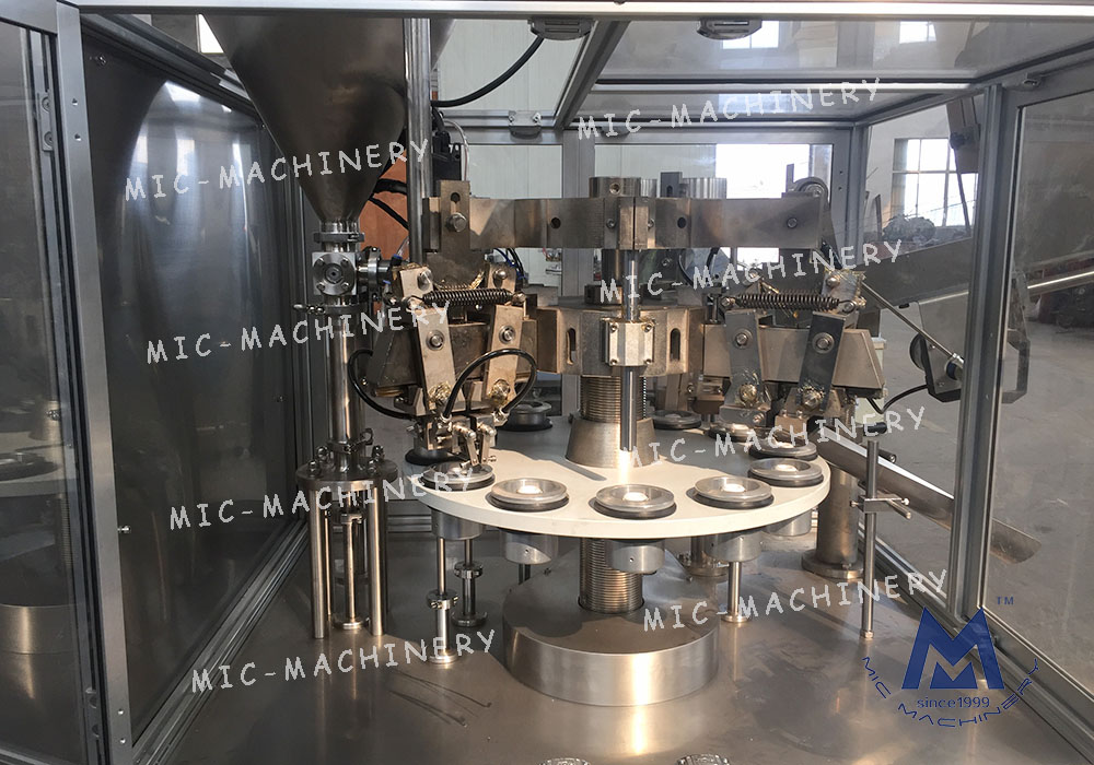 Ointment tube filling sealing machine (MIC-R60-I automatic plastic tube filling sealing machine with heating gun)