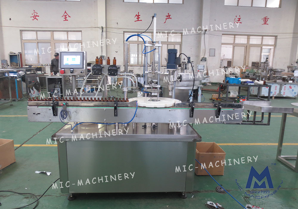 E-Liquid Filling And Capping Machine(MIC-E40 Automatic small bottle glass bottle filling capping machine)