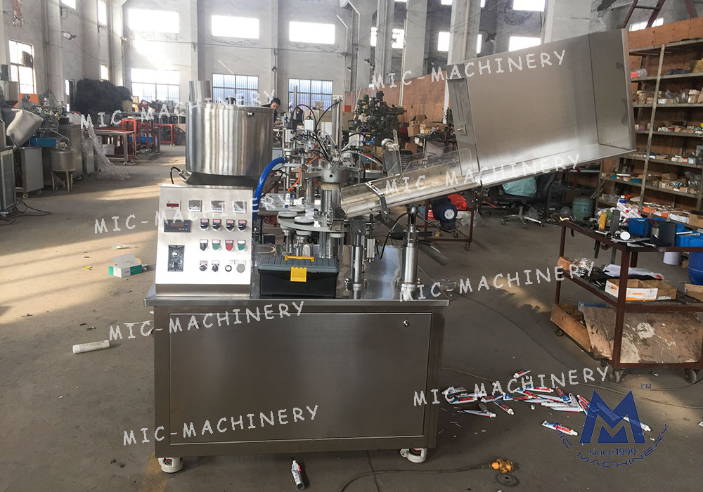 Toothpaste filling machine(MIC-R45 Plastic & Laminated tube filling and sealing machine)