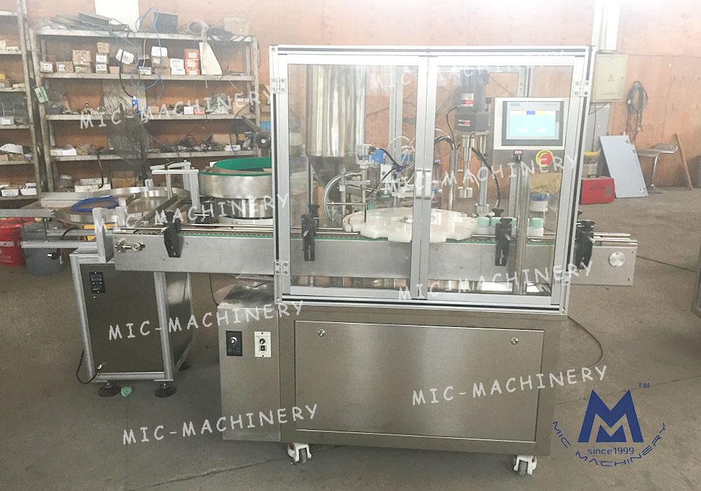 Gel Balm Filling Capping Machine( MIC-LL45 automatic filling capping machine for glass jar)