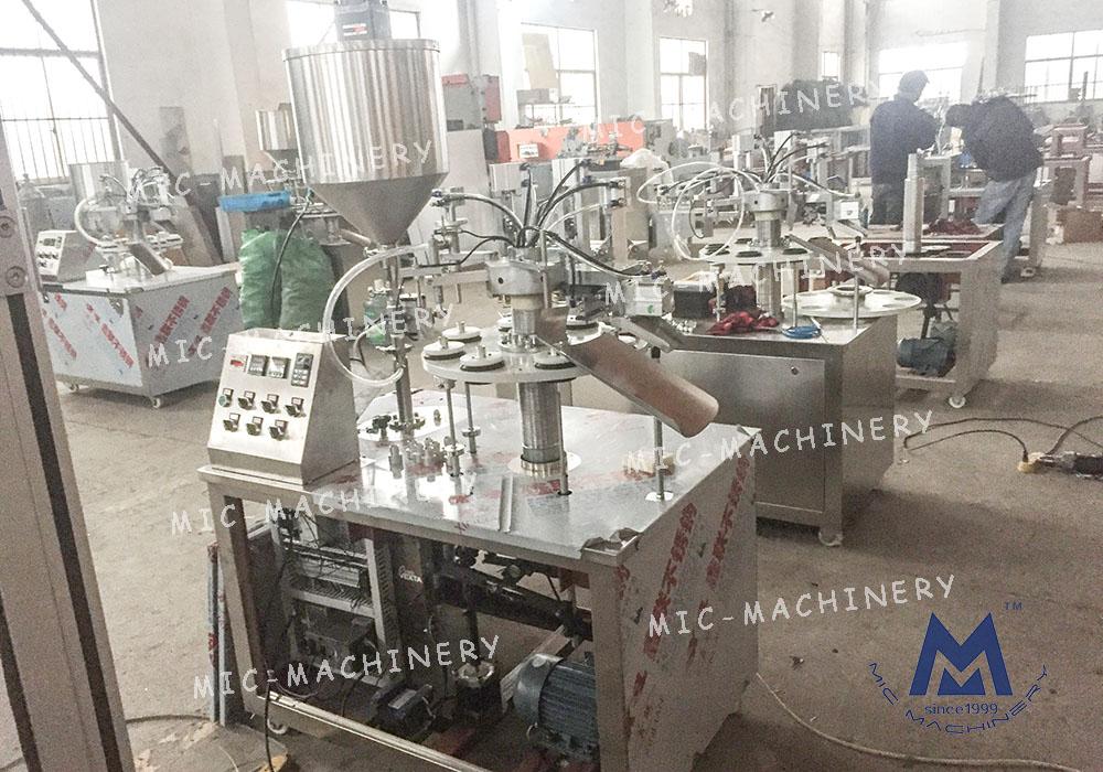 Pigment tube filling sealing machine ( MIC-R30 Small plastic soft tube filling sealing machine )