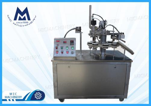 BB cream filling sealing machine( MIC-R30 SEMI-Auto Soft Tube Filling & Sealing Machine)