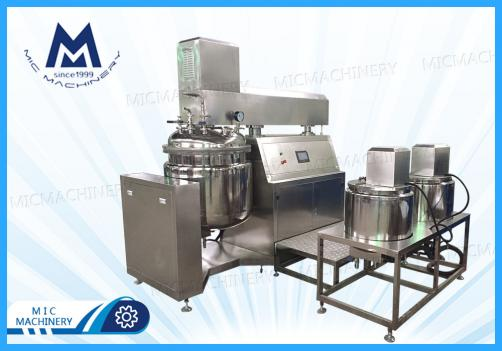 MIC-100L vacuum homogenizer emulsifier mixer tank for cosmetic cream lotion shampoo