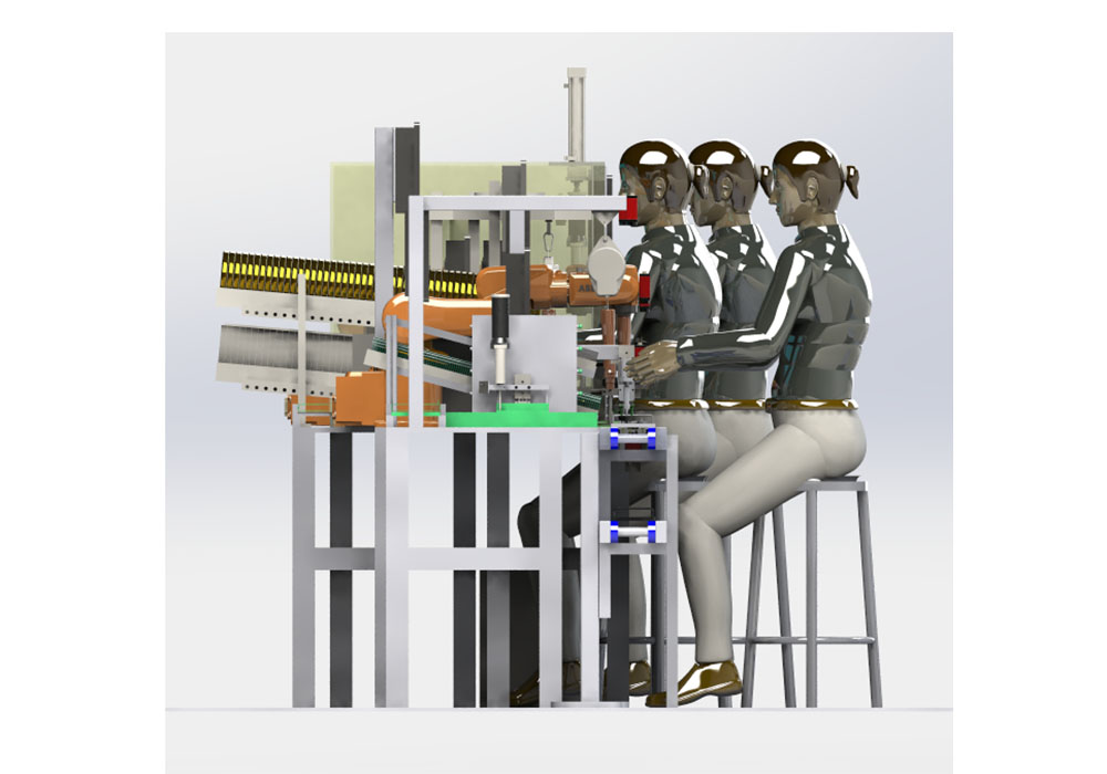 电流传感器数字化装配生产线