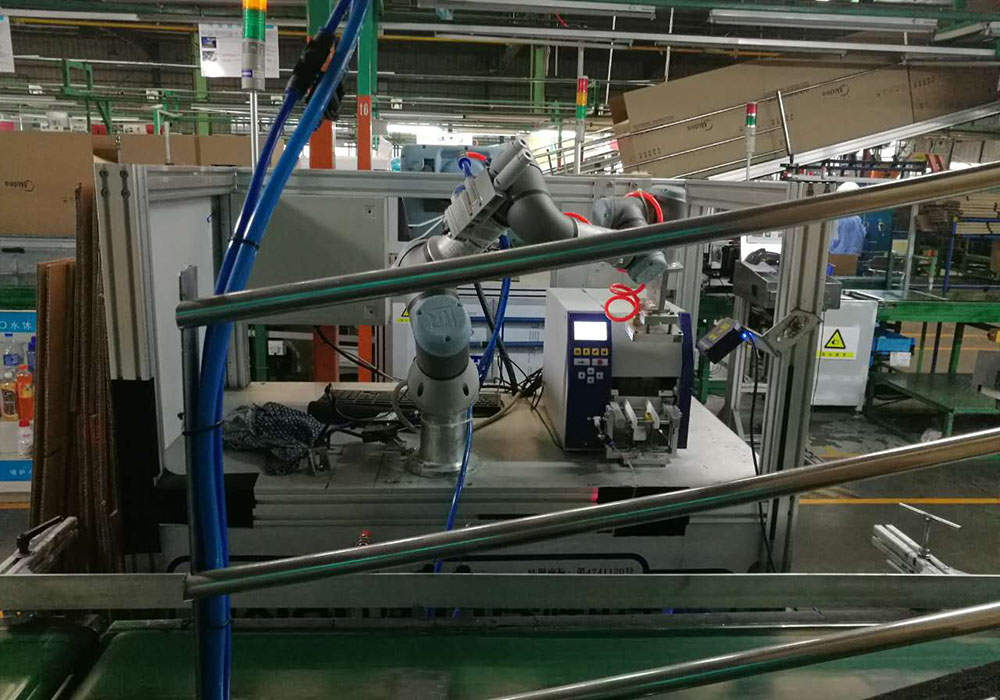 空调后道包装自动化检测柔性贴标系统