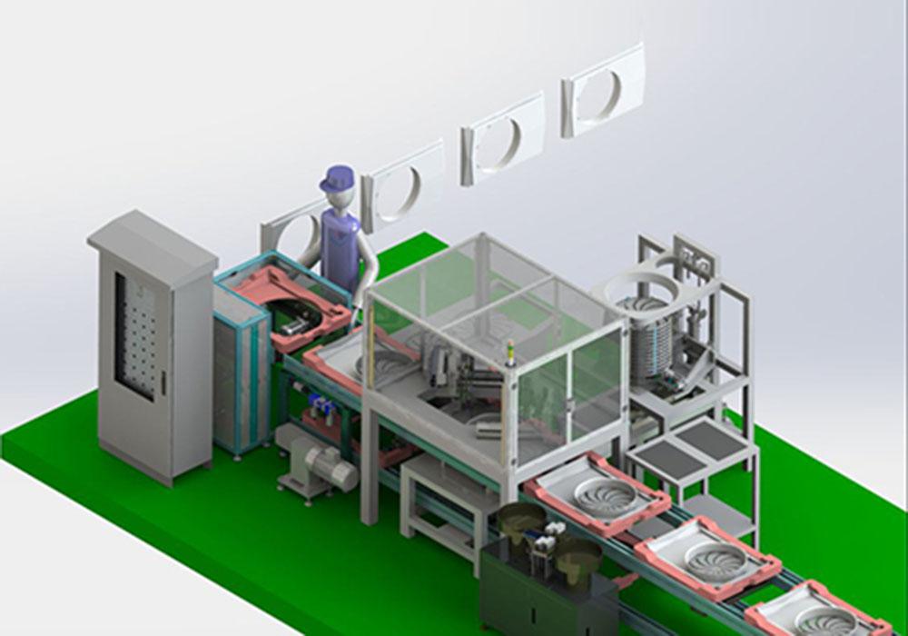 空调面罩自动化装配系统