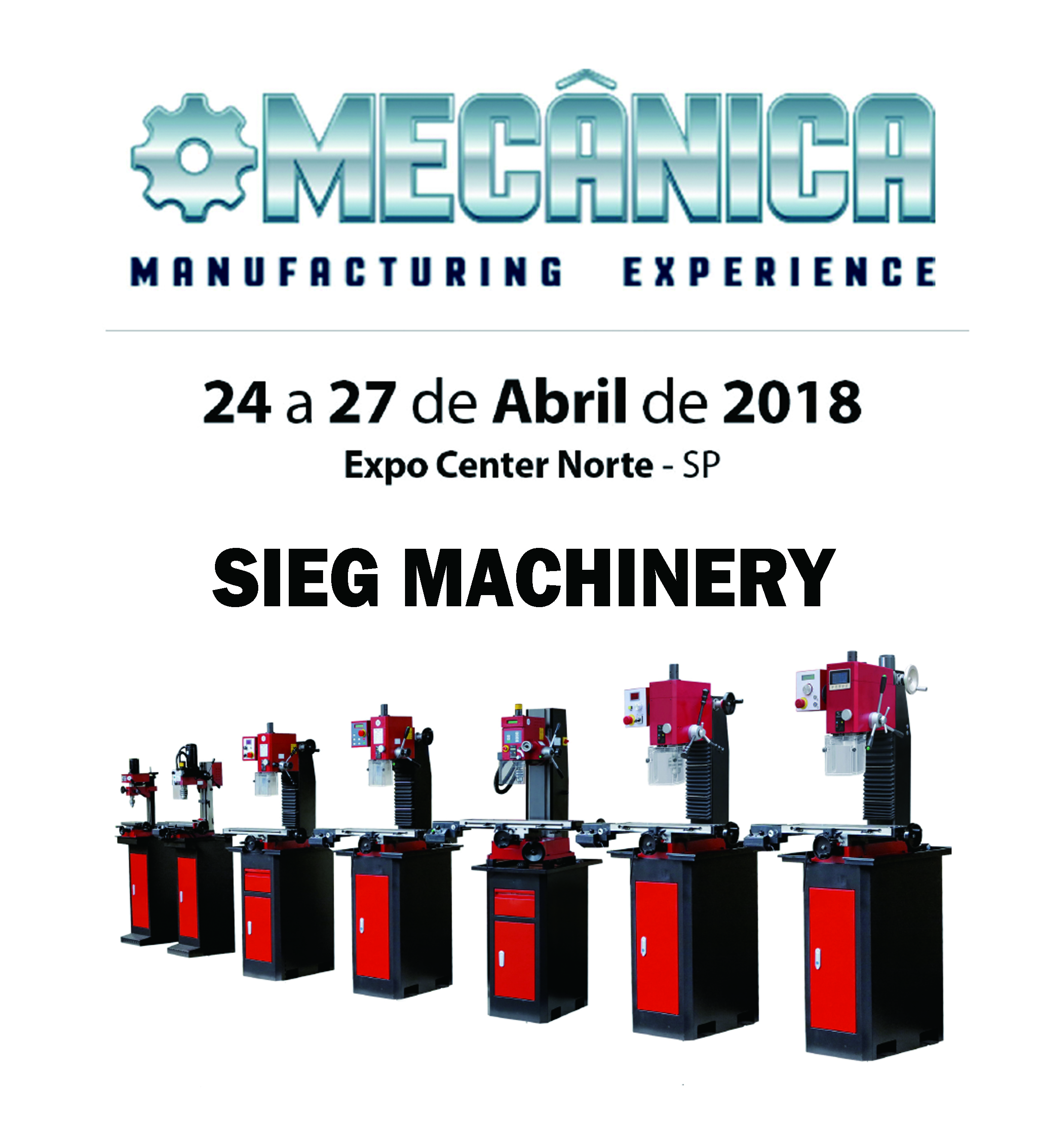 Welcome To Our Booth on Brazilian Machinery & Industrial Equipment Fair (MECANICA 2018)