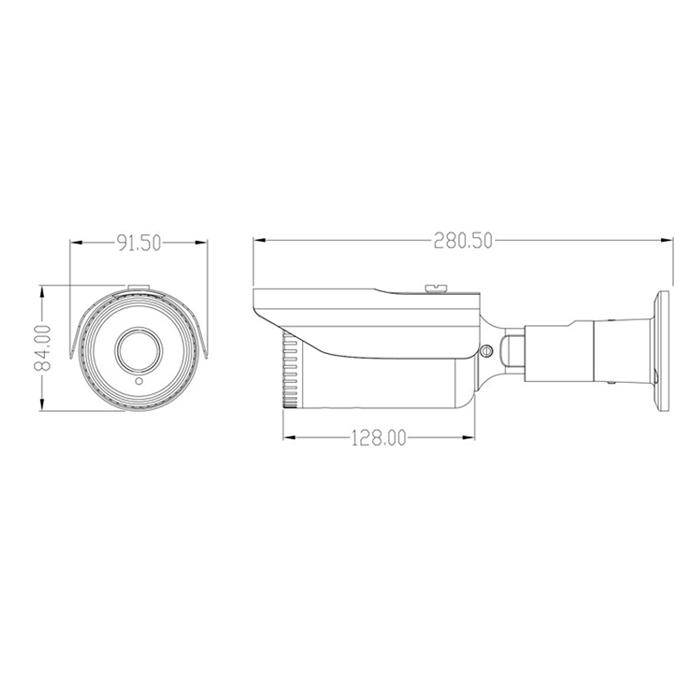 4MP XMEye Varifocal Outdoor 40m IR Bullet IP Camera NC5216-4M
