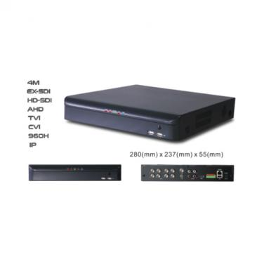 16CH 4MP 6IN1 EX-SDI/HD-SDI/AHD/TVI/CVI/960H/IP DVR SDI7216-4M
