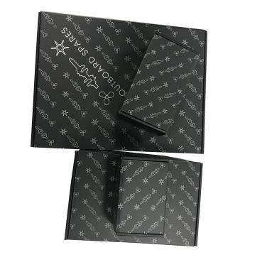 OEM Matt Black Corrugated Paper Box