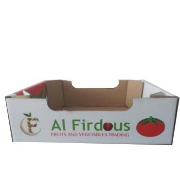 Custom Made Strong Corrugated Paper Tomato Box