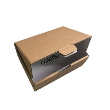 Natural Brown Kraft Paper Packaging Box For Gifts Postal