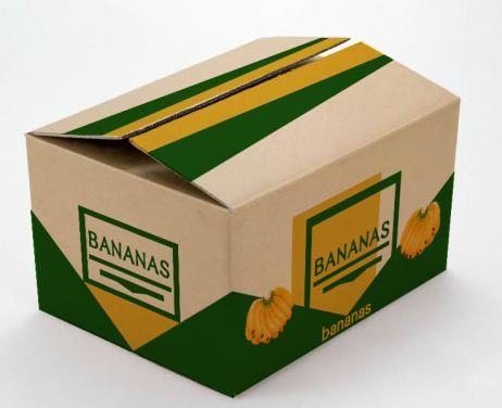Custom printed cheap recycled kraft banana paper package box