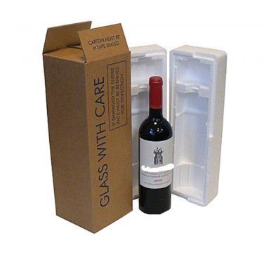 Kraft Paper One Pack Bottle Box For Wine Packaging
