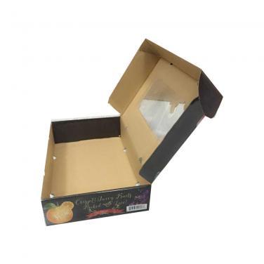 Custom printed corrugated vegetable box