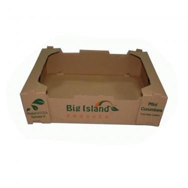 Flexo printed brown kraft vegetable pallet
