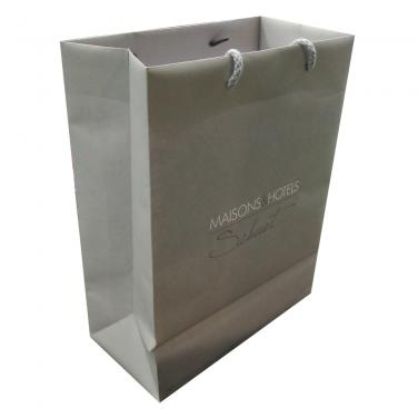 Shopping Paper Bag With White Logo