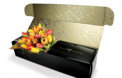 both side printing flower mailer box