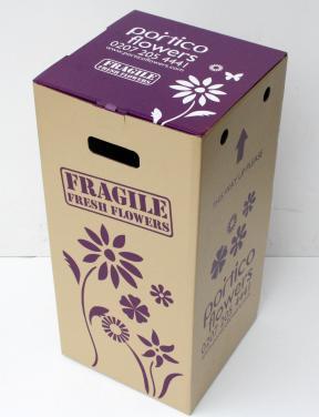 Custom design flower shipping box