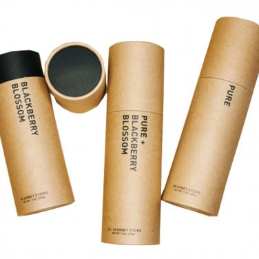 Black color logo paper tube